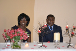 Rev. and Mrs. Samuel Osei in their reception table