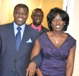 Rev. and Mrs. Samuel Osei walking on their way to the reception